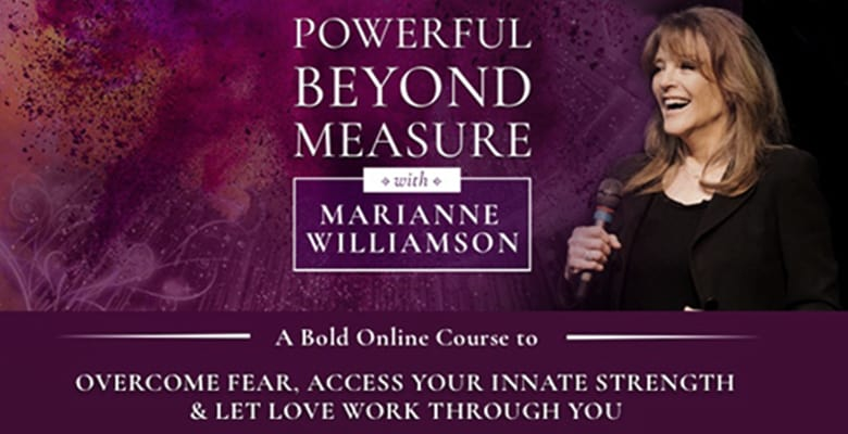 Powerful beyond measure by marianne williamson course banner